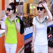 韩版简约时尚修身纯色圆领打底衫图片