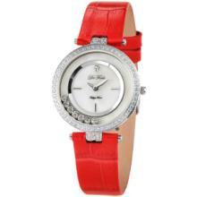 供应DeFeels快乐钻石时尚女表钻石可动红色皮带高档优雅时装表F0062批发