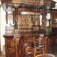成都鑫梦宇实木家具酒吧台桌椅订做图片