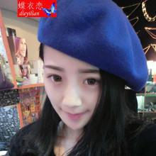 供应广州韩版秋冬羊毛呢帽