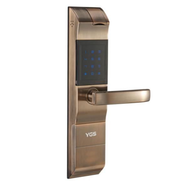 供应密码指纹锁价格,家庭防盗锁8857,杨格锁8859红古铜