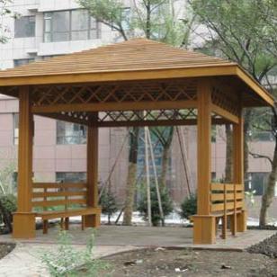 吉林山樟木户外凉亭图片