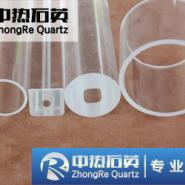 高品质脱羟石英管石英玻璃管乳白管图片