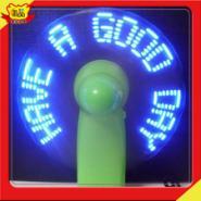 USB烧录DIY编辑LED发光闪字小风扇图片