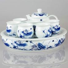 供应景德镇陶瓷茶具 商务礼品陶瓷茶具套装
