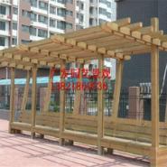 天津防腐木亭子花架葡萄架碳化木图片