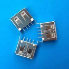 供应USB接口直插式10.5插座180度10.0mm 短体白色胶芯卷边图片