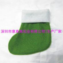 供应绿色圣诞袜 迷你小圣诞袜 糖果圣诞袜批发定做