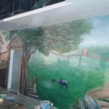 供应博罗酒店墙体彩绘博罗酒店手绘墙,博罗艺术装饰画图片