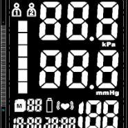 血压计TN段码lcd液晶屏图片