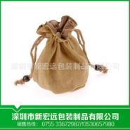麻布袋束口抽绳袋茶叶礼品麻布袋图片