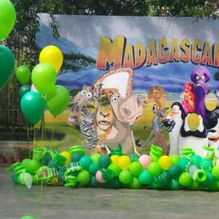 马达加斯加主题气球/气球装饰布置图片