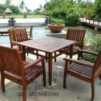 供应炭化防腐木餐桌餐椅-户外实木家具-户外实木休闲桌椅