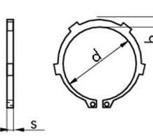 供应进口带齿轴用挡圈,DIN983