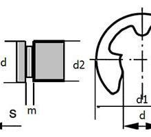 供应轴用开口挡圈,DIN6799