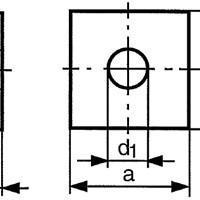供应进口木工用方垫圈,DIN436