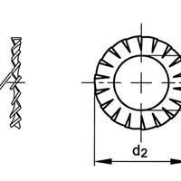 供应进口外锯齿锁紧垫圈,DIN6798A