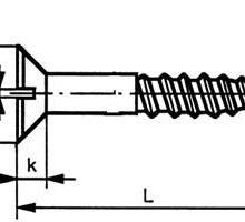 供应开槽沉头木螺钉,DIN97
