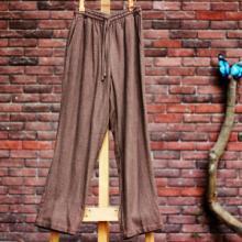 供应中国风男士棉麻文艺直筒宽松显高中式亚麻休闲裤