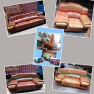 深圳家庭真皮沙发餐椅翻新维修换皮图片