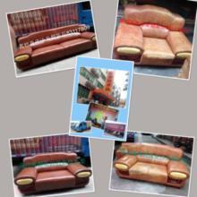 供应深圳家庭真皮沙发餐椅翻新维修换皮 修复座位凹凸不平问题沙发图片