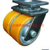 供应TF超重型铁芯聚氨酯PU双轮万向轮-阜宁超重型轮批发-阜宁超重双轮厂家