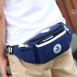 供应新款韩版时尚男士腰包帆布小包户外运动胸包休闲小包
