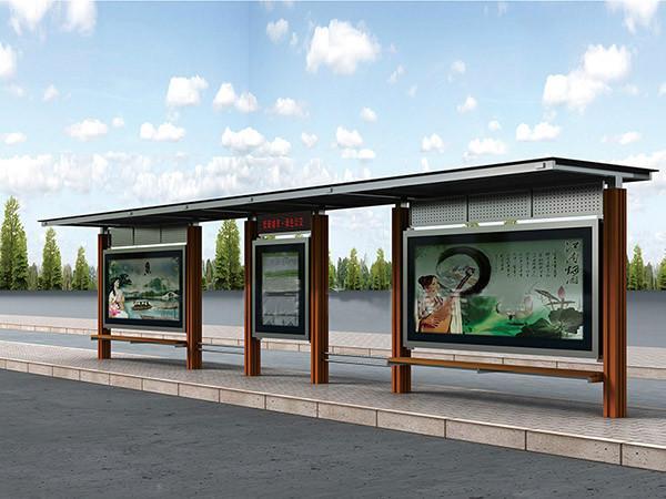 供应不锈钢公交候车亭公交站台多种规格样式的公交站台候车亭