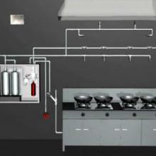 供应酒店厨房自动灭火设备设计安装、灶台油锅自动灭火装置图片