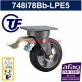 供应50mm轮宽绿xin铝芯橡胶刹车轮-广东中山刹车轮批发价-中山脚轮供货商