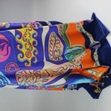 供应真丝丝巾女士夏季防晒沙滩巾欧美围巾风格大方巾骑车防晒披肩定制图片