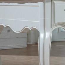 供应英式风格米白色书桌实木书桌