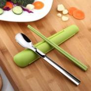 台湾便携餐具户外餐具勺子筷子套装图片