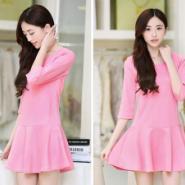纯色连衣裙图片
